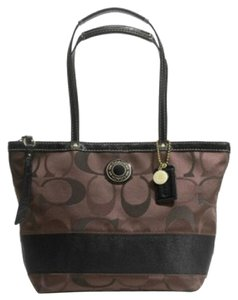 Coach Signature Jacquard Tote in Brown