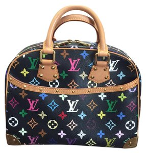 Louis Vuitton Murakami Trouville Tote in black, multicolor, multi color