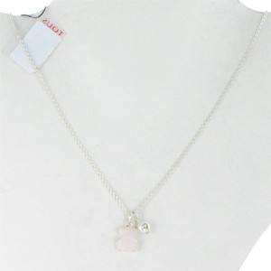 TOUS Erma Necklace Pink Opal Pearl Lemon Jasper Sterling Silver