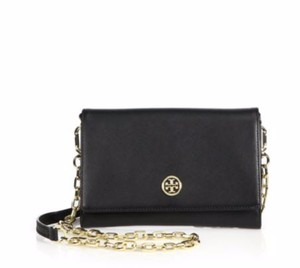 Tory Burch Wallet On Chain Gold Chainstrap Night Or Day Cross Body Bag