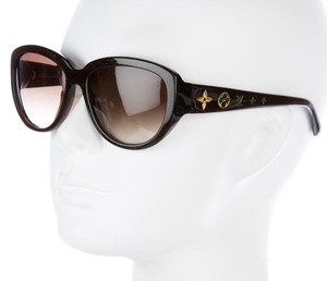 Louis Vuitton Brown, gold Louis Vuitton Obsession monogram sunglasses