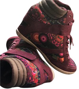 Desigual dark multi red Wedges