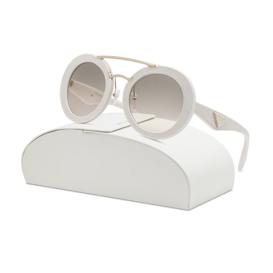 Prada White New 15ss Round Ufp3h2 Ivory Frame Sold Out Sunglasses ...