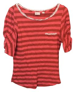 Anthropologie T Shirt red stripes