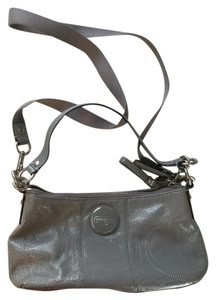 Coach Patent Leather Silver Hardware Classic Cross Body Shoulder Bag
