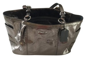 Coach Metallic Leather Edgy Tote in Silver