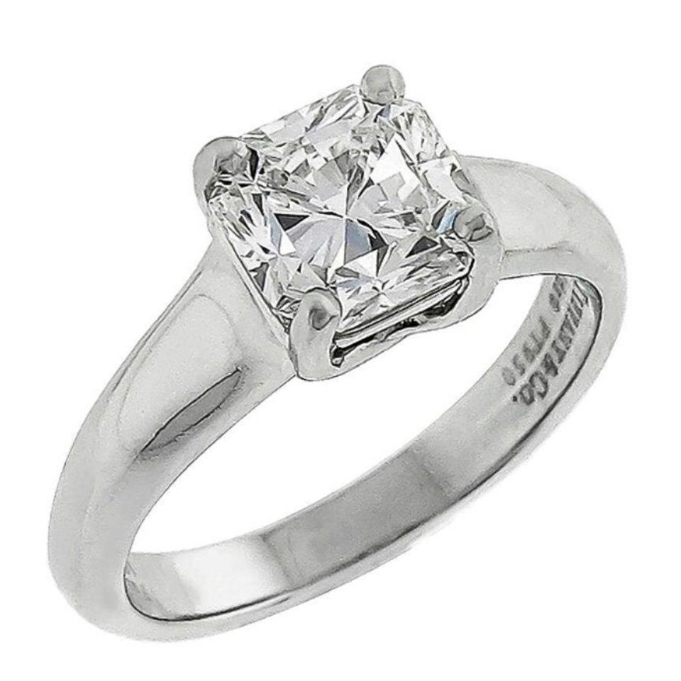 lucida co diamond solitaire tiffany platinum ring certified engagement