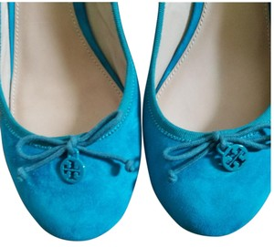 Tory Burch turquoise blue Wedges