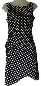 A.B.S. by Allen Schwartz short dress Black and White Polka Dot Asymetrical Abs Sexy B/w Sleeveless on Tradesy