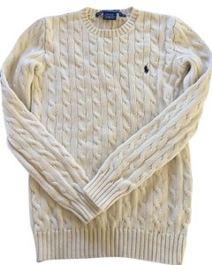 Ralph Lauren Long Sleeve Cable Knit Cotton Sweater