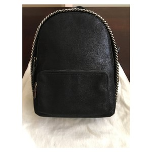 Stella McCartney Faux Leather Suede Silver Hardware Backpack