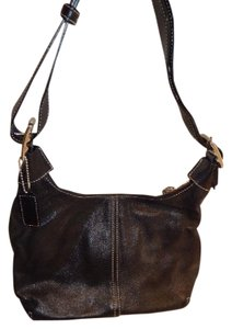 Coach Vintage Contrast Stitching Crossbody Leather Hobo Bag bc057586f0169