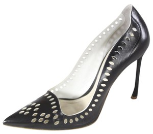 Dior Perfoated Leather Heels Black Pumps