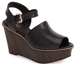 Coach Black & Gold Wedges