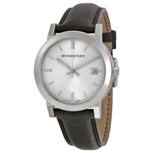 Burberry New Men's The City Watch Black Leather Strap BU9008