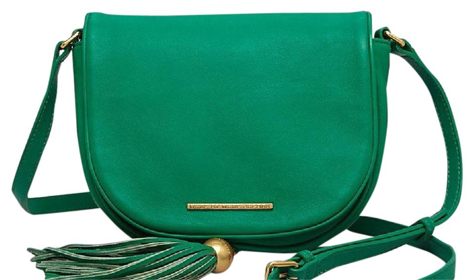 0dd478344f Marc by Marc Jacobs Gig Hincy Soccer Pitch Green Lambskin Leather/Cowhide Leather  Cross Body Bag