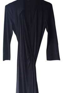 Armani Collezioni Jersey Wrap-dress V-neck Longsleeve Dress