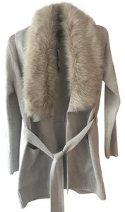 Banana Republic Sweater Fur Fur Collar Cream Jacket