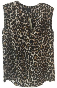 J.Crew Silk Top Cheetah Print