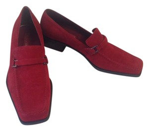 Enzo Angiolini Suede Red Flats