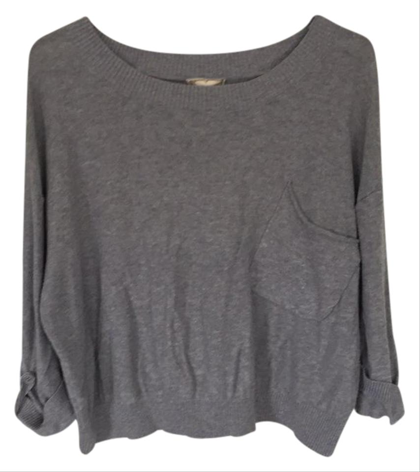 Pink Rose Grey Box Sweater/Pullover Size 10 (M) - Tradesy