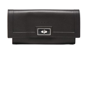 Givenchy NWB Shark Tooth Black Pebbled Leather Wallet IN STORES