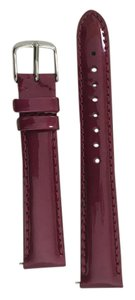 Michele NWT - Michele 16mm Leather Band - Strap Berry