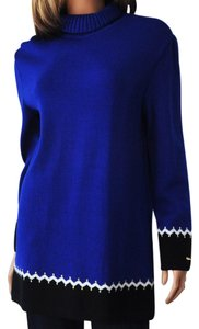 St. John Santana Knit Royal Blue Tunic Sweater