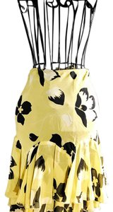 Betsey Johnson Skirt yellow, black, white