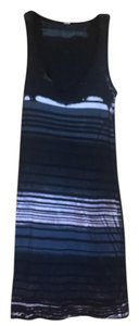 marika charles short dress blk/Grey/off white stripe on Tradesy