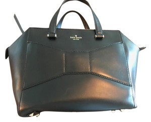 Kate Spade Bow Leather Tote Satchel in black