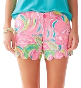 Lilly Pulitzer Lilly Summer Scallop Hem Printed Mini/Short Shorts Multi