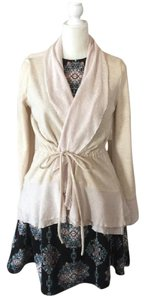 Anthropologie Ruffles Tie Waist Cardigan