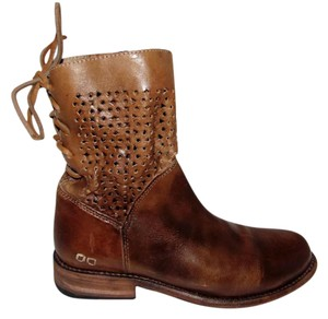 Bed|St Burnished Tan Cut-out Boots