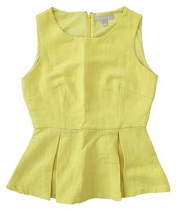 Banana Republic Sleeveless Peplum Top Yellow