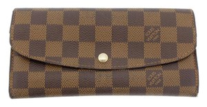 Louis Vuitton AUTHENTIC Louis Vuttion Portefeuille Emilie Bifold Wallet Damier Ebene