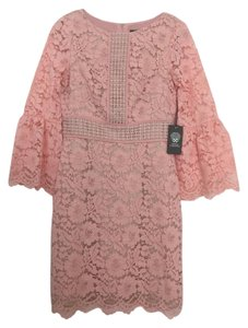 Vince Camuto Lace Peach Bell Sleeves Dress