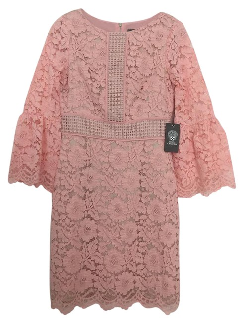 Item - Blush W Lace W/ Bell Sleeves Short Night Out Dress Size 2 (XS)