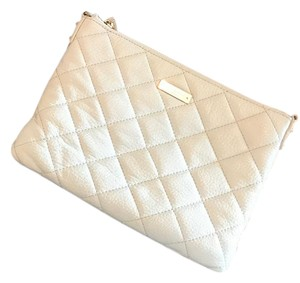 Kate Spade Quilted Crossbody Chain Simple White Clutch