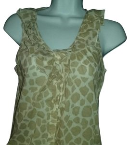 Ann Taylor LOFT Top Tan and white