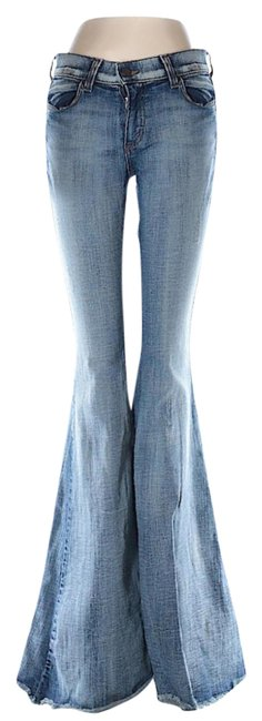 Item - Denim Blue Distressed Bell Bottoms Flare Leg Jeans Size 29 (6, M)