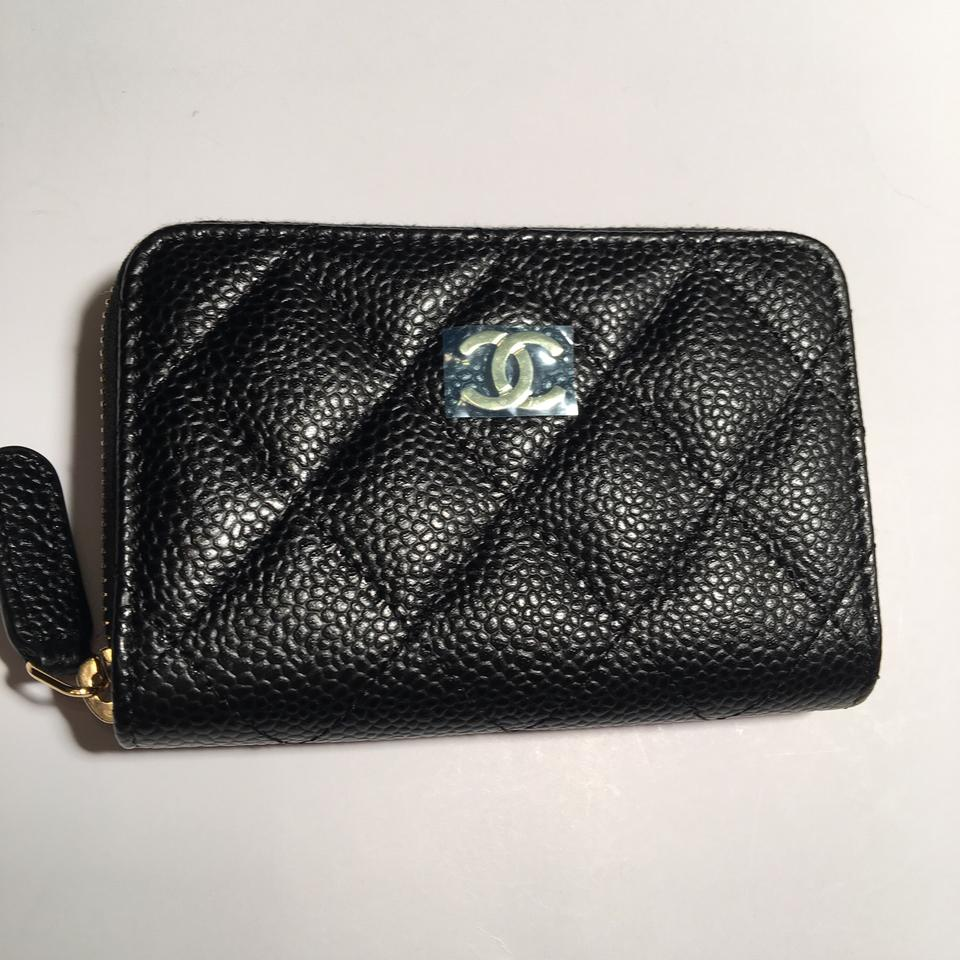 17db46658327 Chanel Black/Burgundy/ Gold Hardware Zippy Coin Purse Bn Classic ...