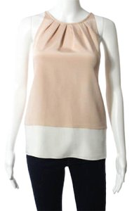 Theory Colorblocked Silk Top Pink