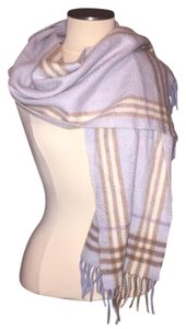 Burberry Burberry Nova Check Cashmere/Wool Scarf Blue, Beige, Tan, Pink, & Purple