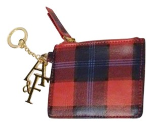 Abercrombie & Fitch Abercrombie & Fitch Card Holder Womens Red Plaid