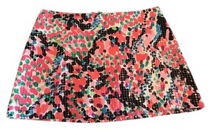 Lilly Pulitzer Mini Sequin Lilly Summer Preppy Skirt Multi