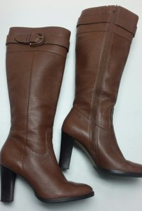 Banana Republic Buckle Chunky Brown Boots