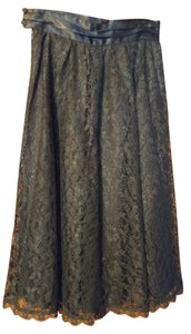 Gunne Sax Vintage Lace Skirt Black