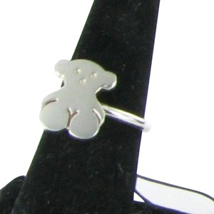 TOUS Sterling Iconic Hinged Ring 512775531 Bear Silver 925 Size 7