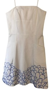 Lilly Pulitzer short dress White Embroidered Preppy Sundress on Tradesy